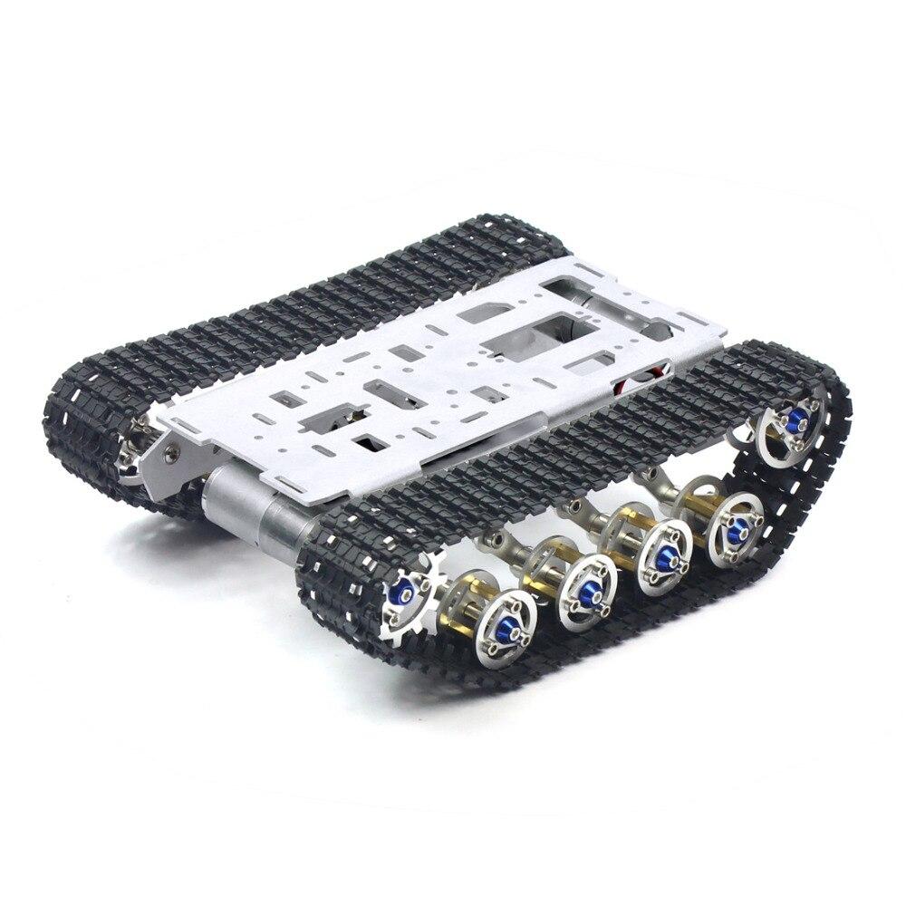 Баланс демпфирования металлический бак робот шасси Алюминиевый сплав платформа высокой мощности Весна DIY Гусеничный