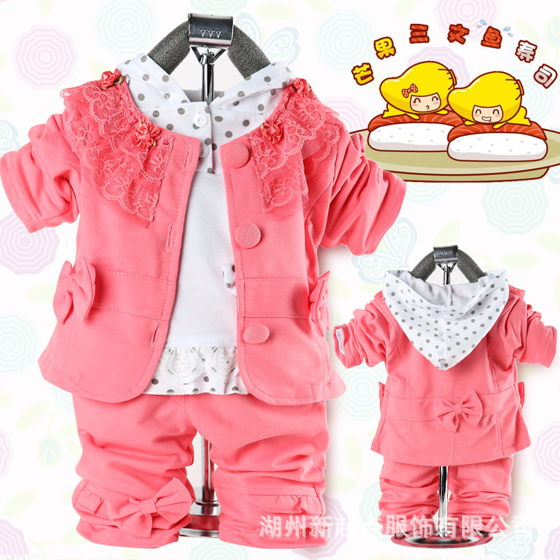 Clothing Sets 2019 Brand New 1-5y Toddler Kids Baby Girls Casual Clothes 2pcs Sets Floral Leaves Zipper Jacket Coat Tops+shorts Autumn Clothes 100% Guarantee Mother & Kids