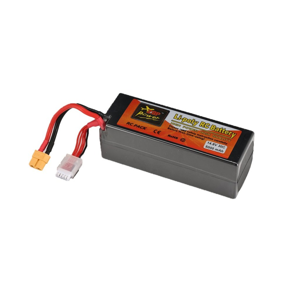 ZOP Power 14.8V 30C 40C 45C 65C 3300mAh 5000mAh <font><b>5500mAh</b></font> 7000mAh 8000mAh 6000mAh <font><b>4S</b></font> 1P <font><b>Lipo</b></font> Battery XT60 Plug for RC Drone Car image