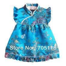 New Baby dress Infant Silk Jacquard Chinese Dress