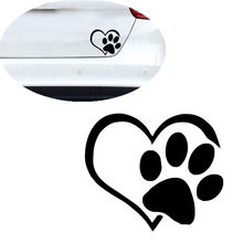 Vehemo Car Bumper Body Stickers Animal Dog Cat Pet Paw Foot Prints Stickers Vinyl Peach Heart Love Decal Stickers Car Styling(China)