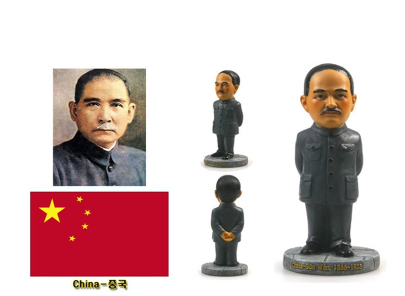 Hand-painted China Sun Yat-sen Resin Crafts World Celebrity Statue Tourism Souvenir Gifts Collection Home Decortion