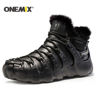 Onemix winter men boots running shoes for women outdoor trekking shoe sneakers walking shoes autumn winter warm keeping shoes