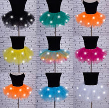 Sexy Girls Light Up LED Tutu Stage Dance Tutu Short Mini Skirt Dancewear Evening