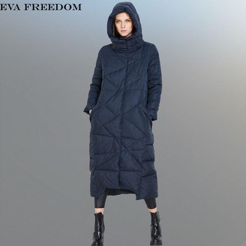 Blue Blanc Qualité Femme Manteau Chaud Femmes Mode D'hiver Nouvelle long Top Veste Pour Duvet Canard Deep De Parkas X 2018 Les 0Cdq6R