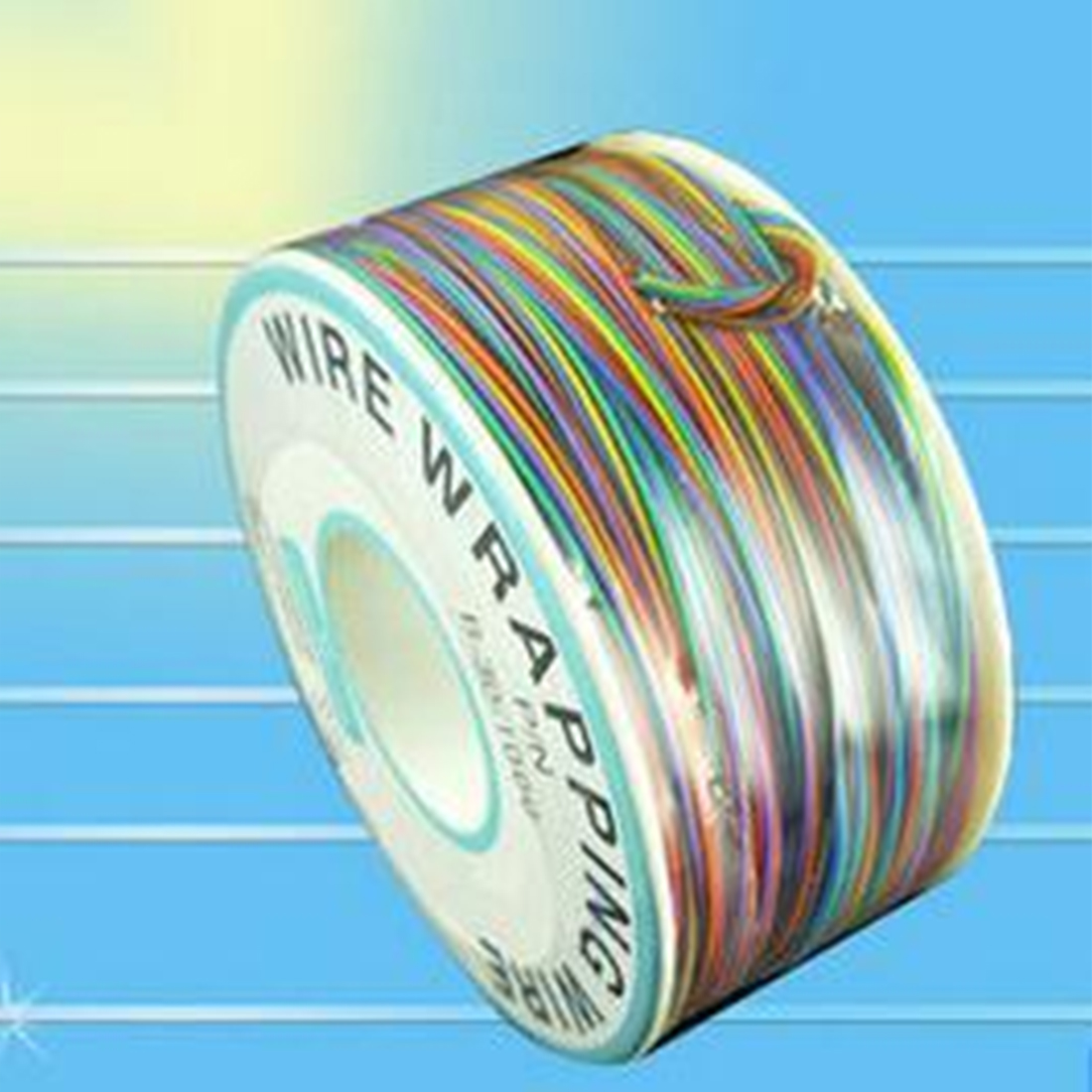 Hot One Roll 8 Colors 30AWG Wire Wrapping Wire Tinned Copper Solid PVC insulation ...