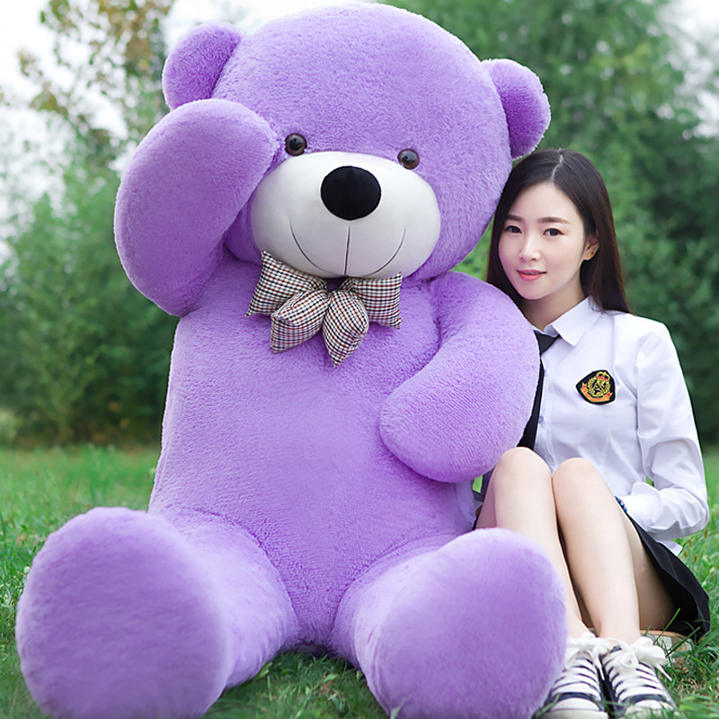 2018 New arrival 220CM/2.2M 5KG purple giant teddy bear soft plush stuffed kid baby dolls life size teddy bear soft 200cm 2m 78inch huge giant stuffed teddy bear animals baby plush toys dolls life size teddy bear girls gifts 2018 new arrival