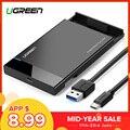 Ugreen HDD carcasa 2,5 SATA a USB 3,0 adaptador caja de disco duro para disco SSD HDD caja tipo C 3,1 carcasa HD externa HDD