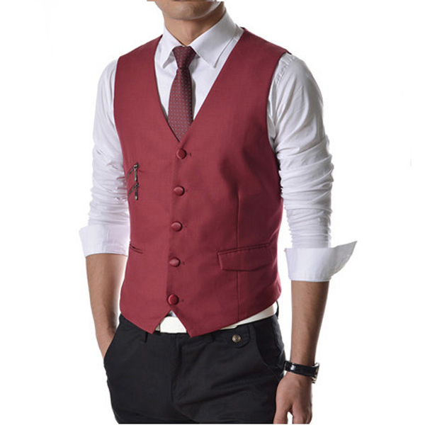 2017 New Men Suit Vest Fashion Casual Wedding Formal Business Suits Blazer Costume Vest