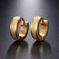 316L Edelstahl Kleine Hoop Ohrringe Für Frauen Männer Gold Silber Farbe Runde Ohrring Punk Rock Schmuck Großhandel