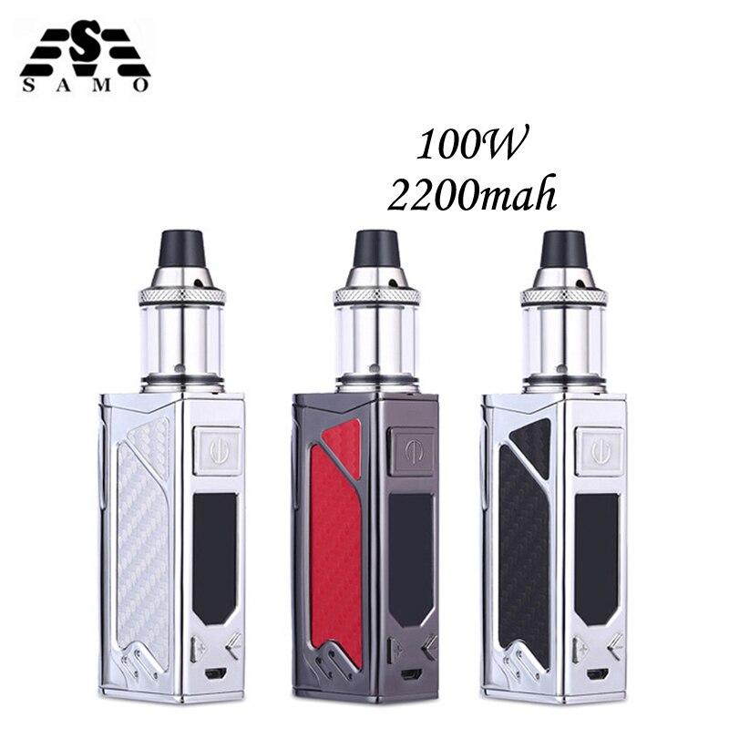 Orignal 100 w box mod kit sigaretta elettronica 2200 mah evaporatore fumo vaper vape penna Enorme vaporizzatore e-sigarette narghilè kit
