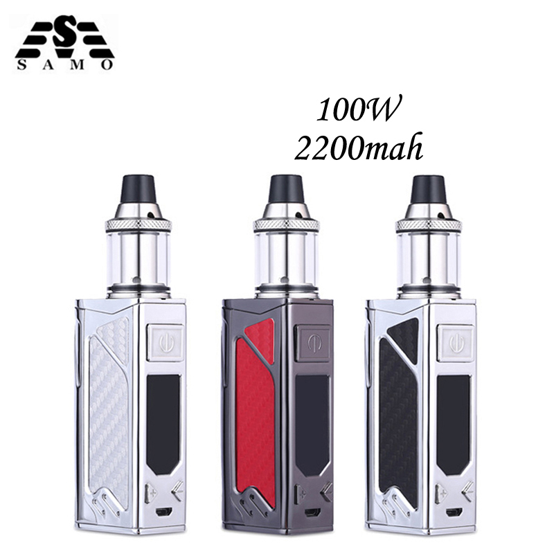 Orignal 100W box mod elektronisk cigarett kit LED-skärm 2200mah - Elektroniska cigaretter