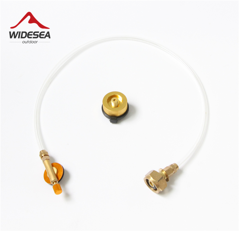 Widesea Outdoor Gas Stove Camping Stove Propane Refill Adapter Burner LPG Flat Cylinder tank Coupler Bottle Adapter Save outdoor camping accessary gas stove propane refill adapter lpg flat cylinder tank coupler bottle adapter