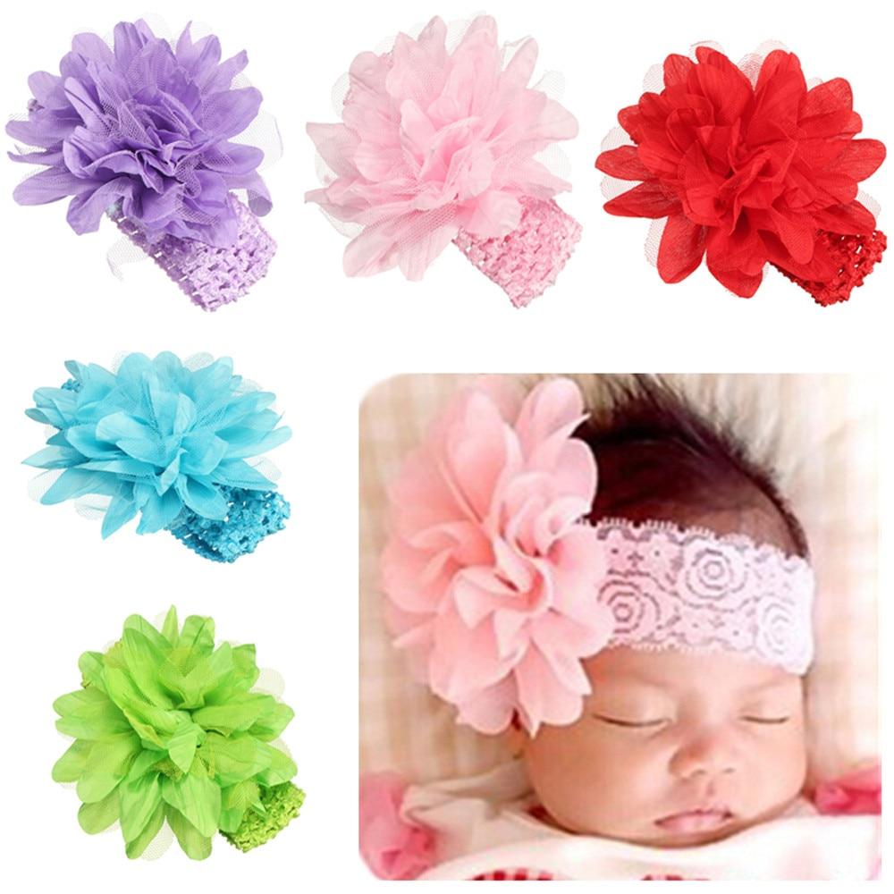 2019 Neue Baby Mädchen Blume Stirnband Spitze Bogen Haarband Blume Stirnbänder Wärmer Baby Stirnband Zubehör 10