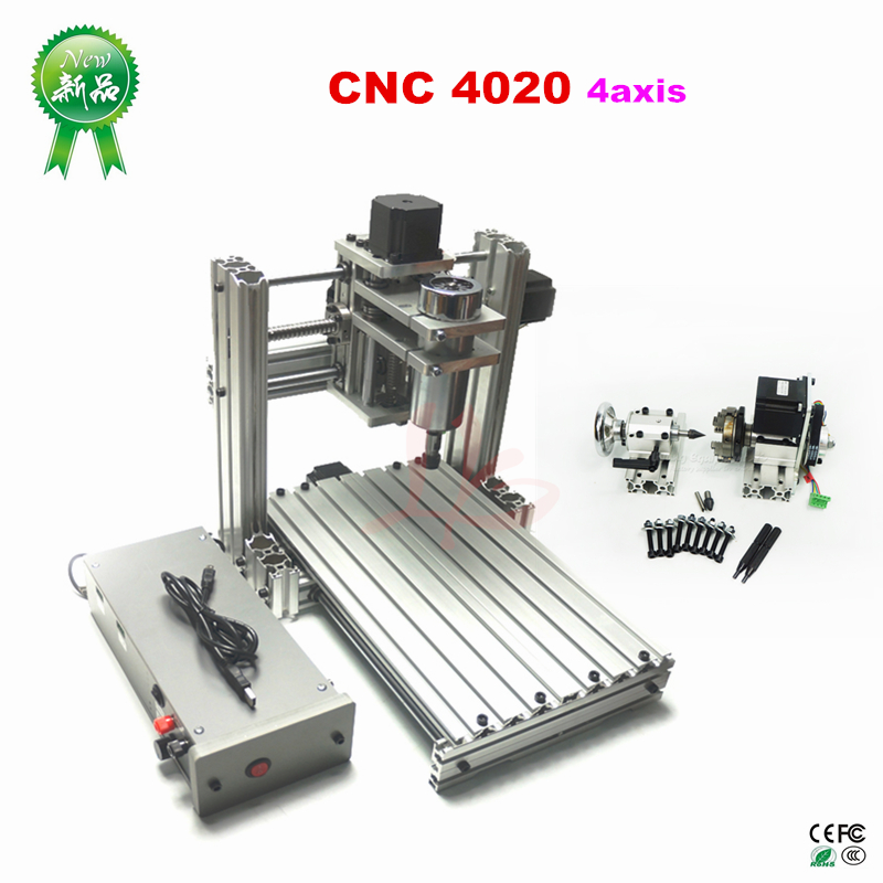3axis 4axis CNC router 4020 mach3 control DIY 5axis CNC Machine with ER11 Pcb Pvc wood Milling router USB port3axis 4axis CNC router 4020 mach3 control DIY 5axis CNC Machine with ER11 Pcb Pvc wood Milling router USB port