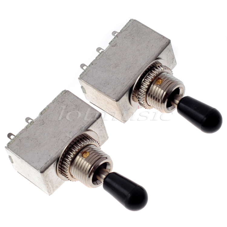 2pcs guitar pickup selector switch 3 way box toggle black tip in rh aliexpress com