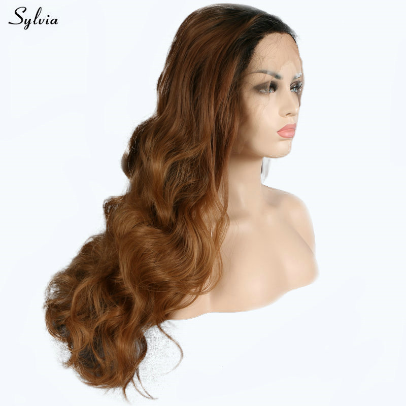 Sylvia Brown Wig Body Wave Black Roots To Dark Browncoffee Brown