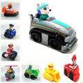 Transporte rápido! 8 Pcs Lot Pat Canino Patrolle Patrolle Figuras de Ação Boneca de Brinquedo do Russo do Filhote de Cachorro Dog Toys Presente Canino