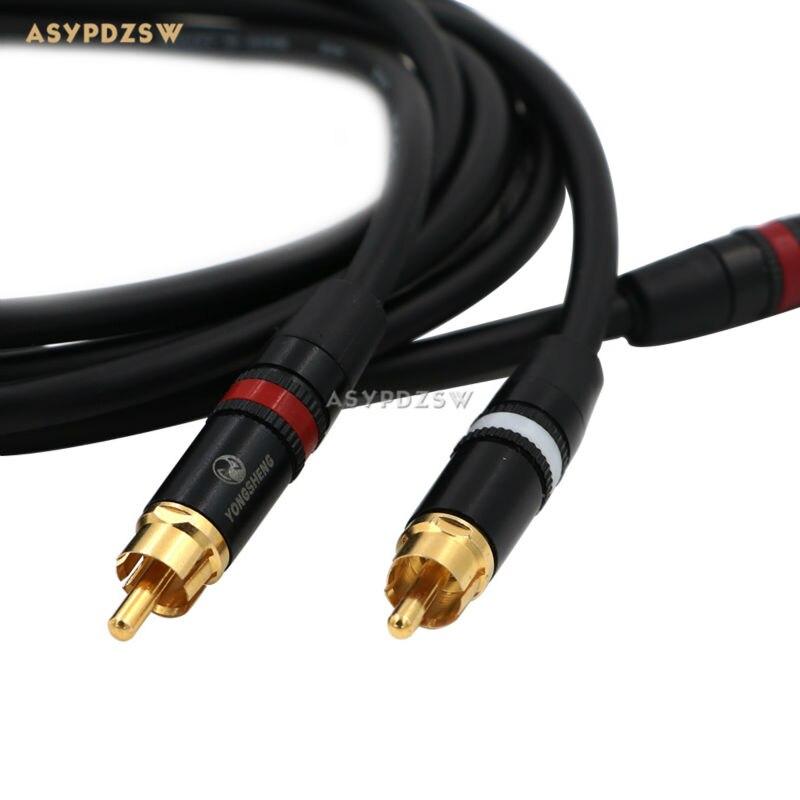 1 paire (2 racine) LX-01A-RCA cuivre pur mâle-mâle RCA câble coaxial 1.5 M câble de Signal stéréo