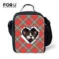 Cute Women Portable Insulated Thermal Lunch Box Children Food Storage Containers Carry Bag Cat Dog Print Travel Picnic Hand Bag