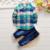 2015 Novos Conjuntos de Roupas Meninos Da Criança de Veludo Camisas + calças de Brim crianças Roupas de Inverno Meninos Roupas de Bebê Definir Trajes de Inverno Para meninos
