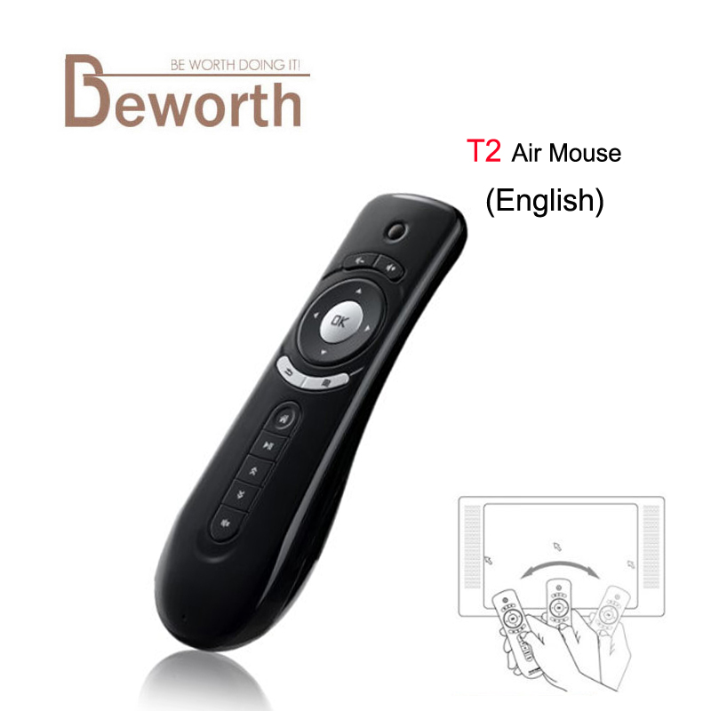 10PCS Gyroscope T2 Fly Air Mouse 2.4G Wireless Mini Game Keyboard For Android TV Box Remote Control 3D Sense Motion Media Player original t2 air mouse 2 4g wireless mini keyboard 3d sense motion remote controller t2 air mouse for android smart tv box pc