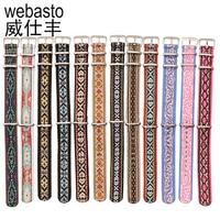 Webasto Watch Band For Daniel Wellington Embroidery Nylon Straps Width 18 20mm Silver Buckle Watch Strap