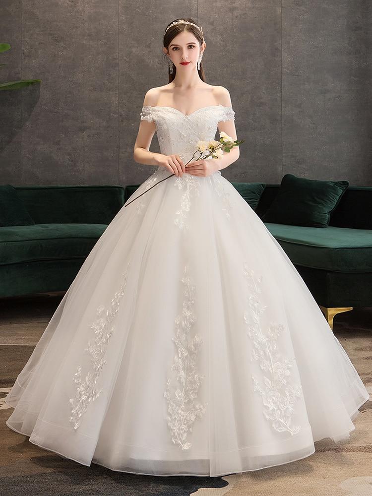 Robe de mariée de luxe robe de bal 2019 nouvelle mariée chérie robe de princesse robes de mariée à lacets