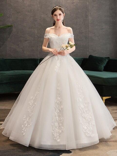 Robe de mariée luxueuse tenue de bal, tenue de princesse en cœur, pour la mariée, nouvelle collection 2019, à lacets