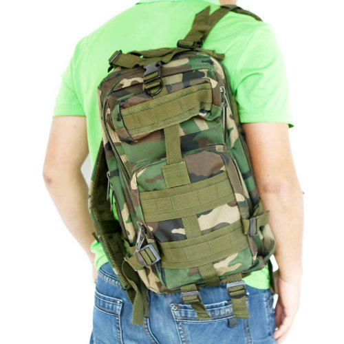 2x 30L Outdoor Sport Military Tactical Backpack Rucksacks Camping Hiking Trekking Bag Jungle camouflage
