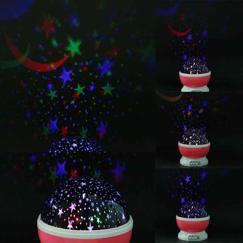 LED Nacht Rotierenden Licht Projektor Starry Sky Star Trojaner Projektion Lampe Kinderzimmer Dekoriert Lichter Weihnachten Kinder Geschenke