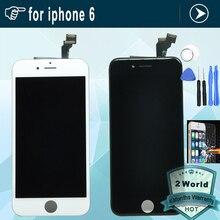 4.7 pulgadas pantalla lcd de pantalla completa para iphone 6 para iphone6 con toque asamblea digitalizador 6g + herramientas + templado protector de vidrio