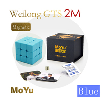 MoYu WeiLong GTS 2M Blue 3x3x3 Magic Cube Magnetic Weilong GTS2M Speed Cube Puzzle Toys For