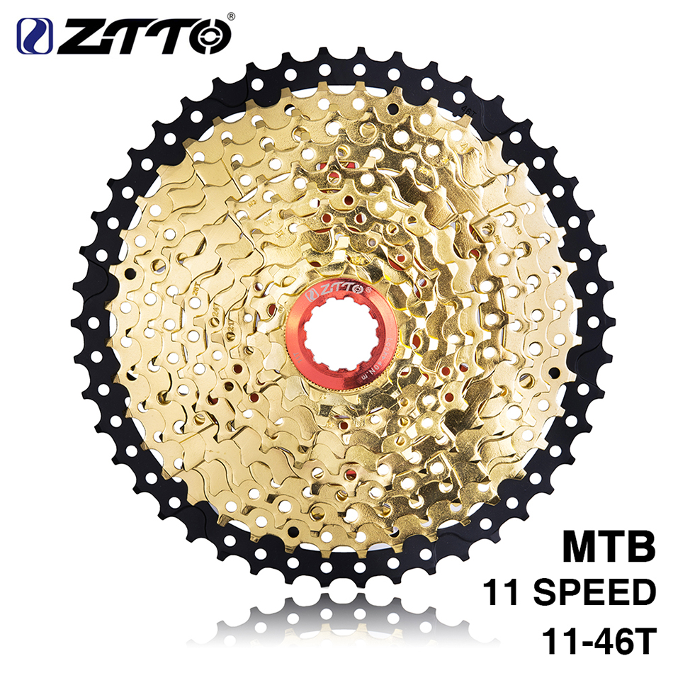 ZTTO MTB Mountain Bike 11 Speed 11-46T Freewheel Cassette Aluminium Steel For Shimano XT SLX SRAM X1 X01 GX NX 1X Bicycle Parts shimano deorext fd m780 m781 front transmission mtb bike mountain bike parts 3x10s 30s speed