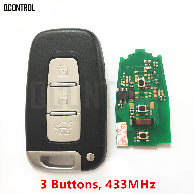 QCONTROL Car Remote Smart Key Suit for KIA Soul Sportage Sorento Mohave K2 K5 Rio Optima Forte Cerato 3 buttons car smart remote key 433 9mhz for soul sportage sorento mohave k2 k5 rio optima forte cerato for kia