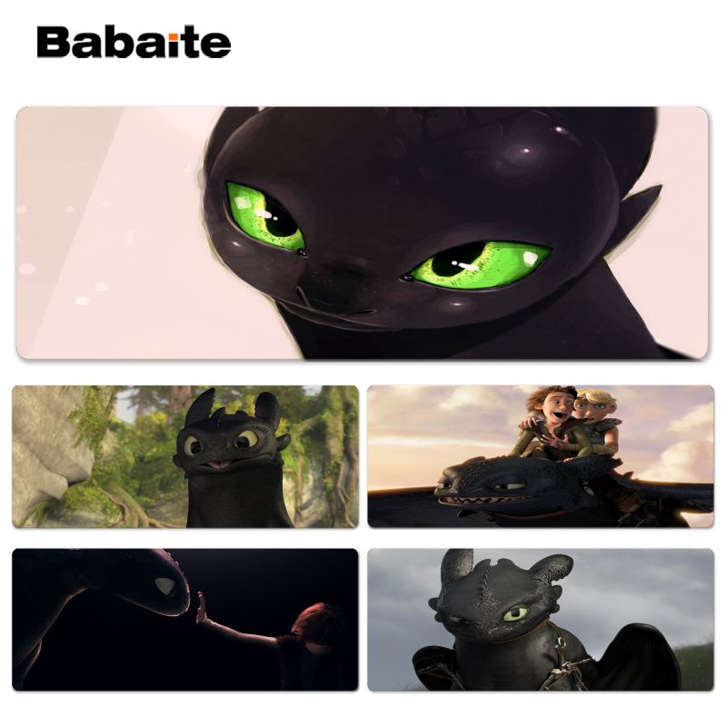 Babaite Vintage Cool How to Train Your Dragon Office Mice Gamer Soft Lockedge Mouse Pad Size for 30x90cm 40x90cm Speed Mouse Pad