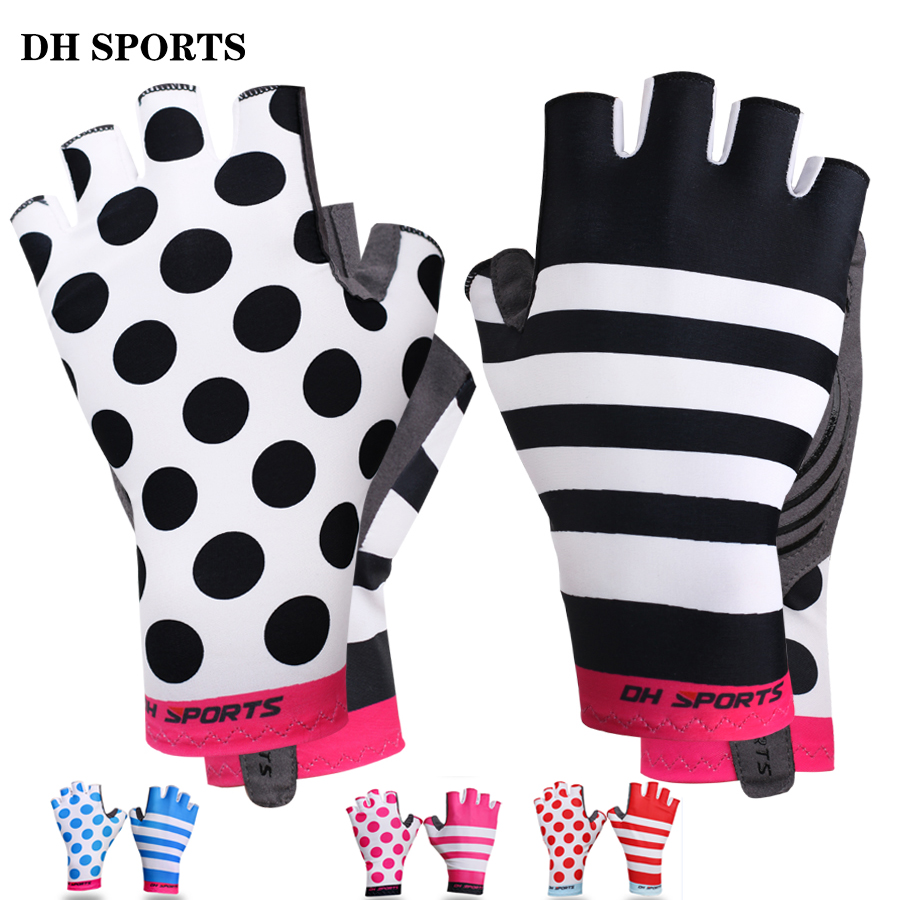New Anti Slip Gel Pad Bicycle Gloves Short Half Finger Stylish Cycling Gloves Breathable Outdoor Sports Men Women Bike Gloves mtwe9018 anti slip half finger bicycle riding cycling gloves blue grey black xl size pair