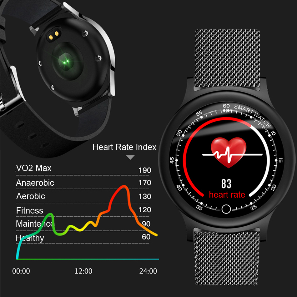 NEW Q28 Smart Watch Men's Watch Waterproof 2019 Bluetooth Heart Rate Sport Watches For Men Fashion Women Bracelet IOS Android