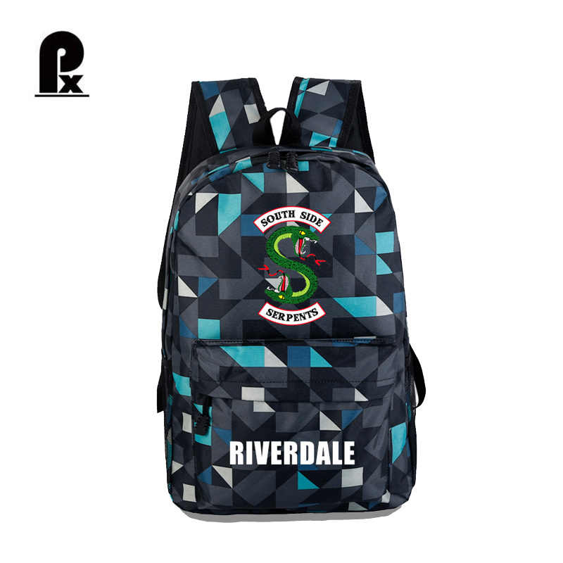 Riverdale Backpack Fashion Camouflage Solid Schoolbag Women and Men Candy Color Schoolbag Laptop Travel School Bag Mochila 2018