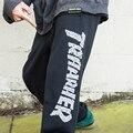 2016 moda das mulheres dos homens hip hop thrasher calças sweatpants corredores de lã calças harém calça de compressão trasher corpo de engenheiros