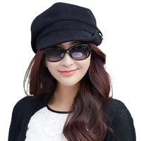 Siggi Wool Newsboy Cabbie Cap For Women Beret Fashion Visor Bill Hat Autumn And Winter Elegant