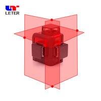 Nível Do Laser Auto Nivelamento LETER 3d 360 Graus 12 Linhas Horizontais & Vertical