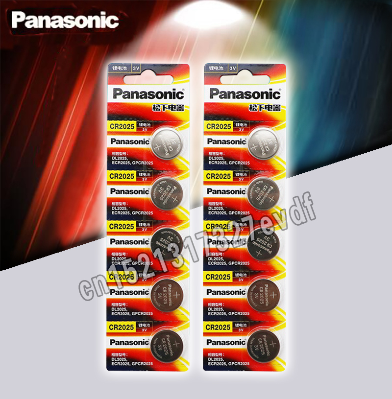 Panasonic Original Cr2025 Button Cell Batteries 10PCS/LOT Cr 2025 3V Lithium Coin Battery For Watch Calculator Weight Scale
