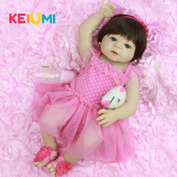 Real Like 57 cm Princess Reborn Baby Dolls Newborn 23 Inch Full Silicone Vinyl Babies Reborn New Design Children's Day Gift Toy
