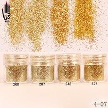 1 Jar/Box 10ml Nagel 4 Champaign Gold Farbe Nagel Glitter Feine Pulver Für Nagel Kunst Dekoration Optional 300 farben Fabrik 4 07