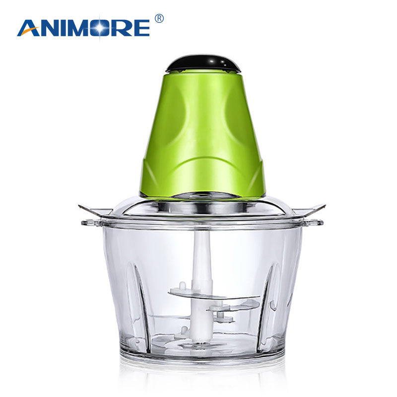 ANIMORE Automatic Electric Meat Grinder for Kitchen Multi-function Food Processor Household Spice Fish Meat Chopper 2L MG-01 household 2l electric kitchen chopper shredder food chopper meat grinder stainless steel electric processor kitchen tool cocina