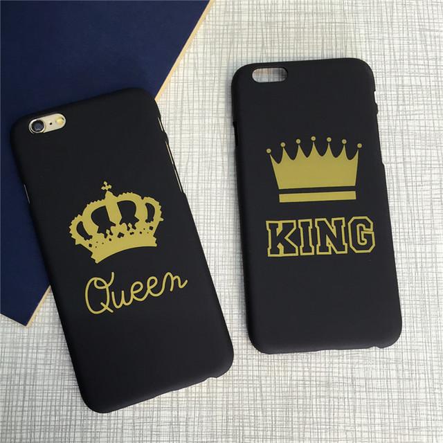 Queen King Love Pair  Phone Cases For Iphone 5 5S 5SE 6 6S 6Plus 7 7plus