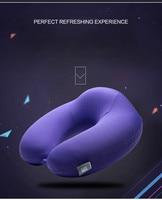 U Shape Pillow Headrest 28x28cm Sofa Cushion Memory Foam Neck Pillow Bamboo Fiber Material Wedding Travel