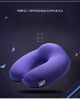 U Shape Pillow Headrest 28x28cm Sofa Cushion Memory Foam Neck Pillow Bamboo Fiber Material Wedding Travel
