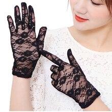 Morewin Fashion Lace Rose Summer Net Women Driving Gloves Elegent Women Driving
